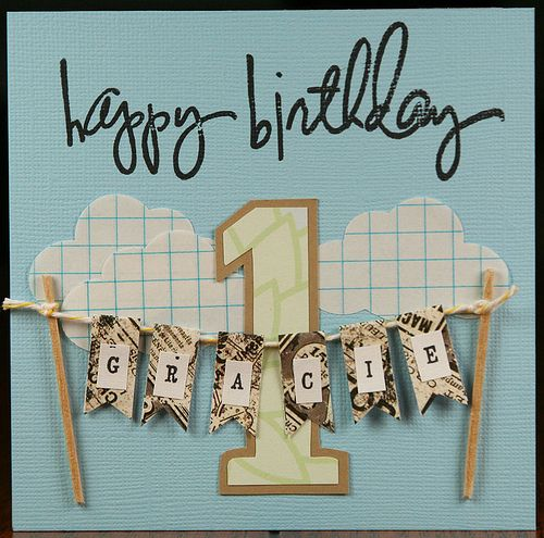 Divine twine for a clothesline whisker graphics pinterest one year old birthday card bookmarktalkfo Gallery