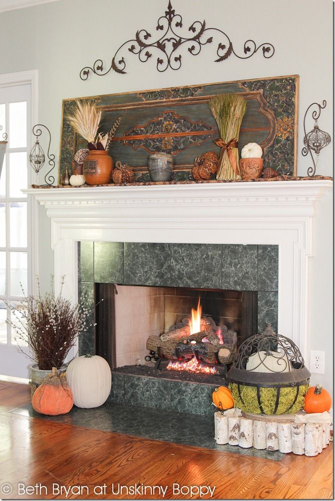 Fall and Thanksgiving Mantel decorating ideas-3 Home Pinterest