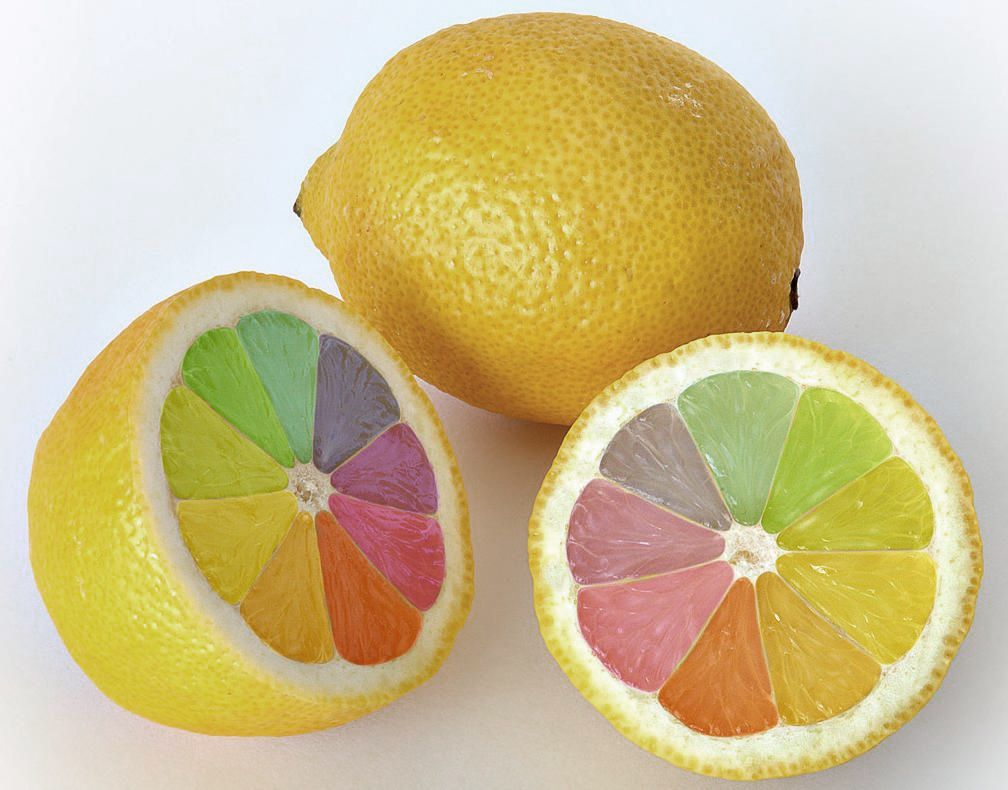 Colored Lemon This Is Photoshopped But It Would Be