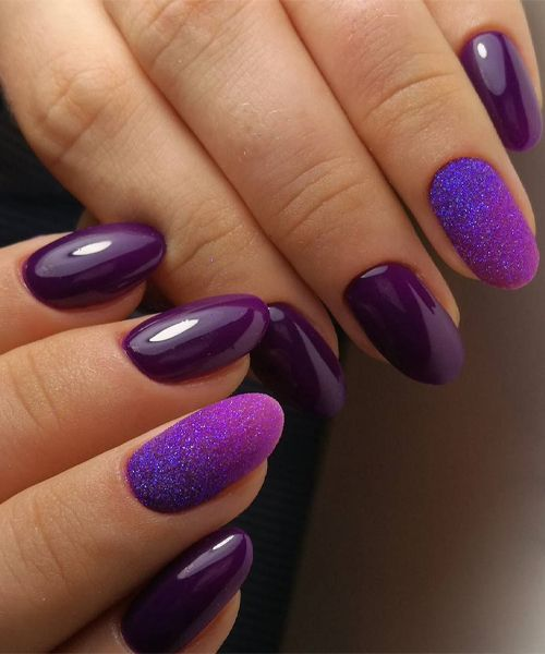 New charming purple nail art designs to look beautiful on your big new charming purple nail art designs to look beautiful on your big day prinsesfo Image collections