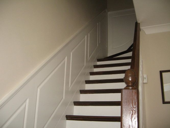Decorative Staircase Walls Wall Panelling Wood Panels Painted Designs