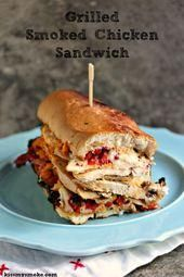 Grilled Smoked Chicken Sandwich with Roasted Red Peppers Mozzarella and Red an  Best Blogging Recipes