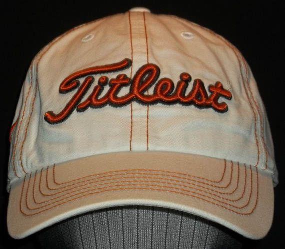 1a5392bc9de Vintage Strapback Hat Golf Cap Baseball Caps Mens Titleist Cap UT Texas  Longhorns