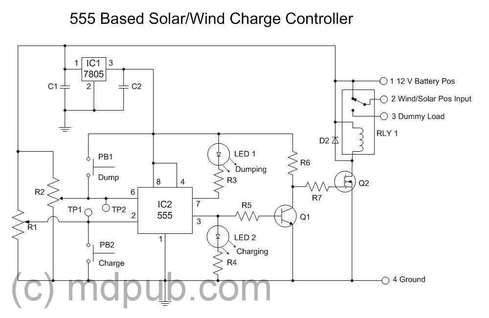 Esquema Del Regulador De Carga Paneles Solares Aerogenerador Diagrama De Circuito Eléctrico
