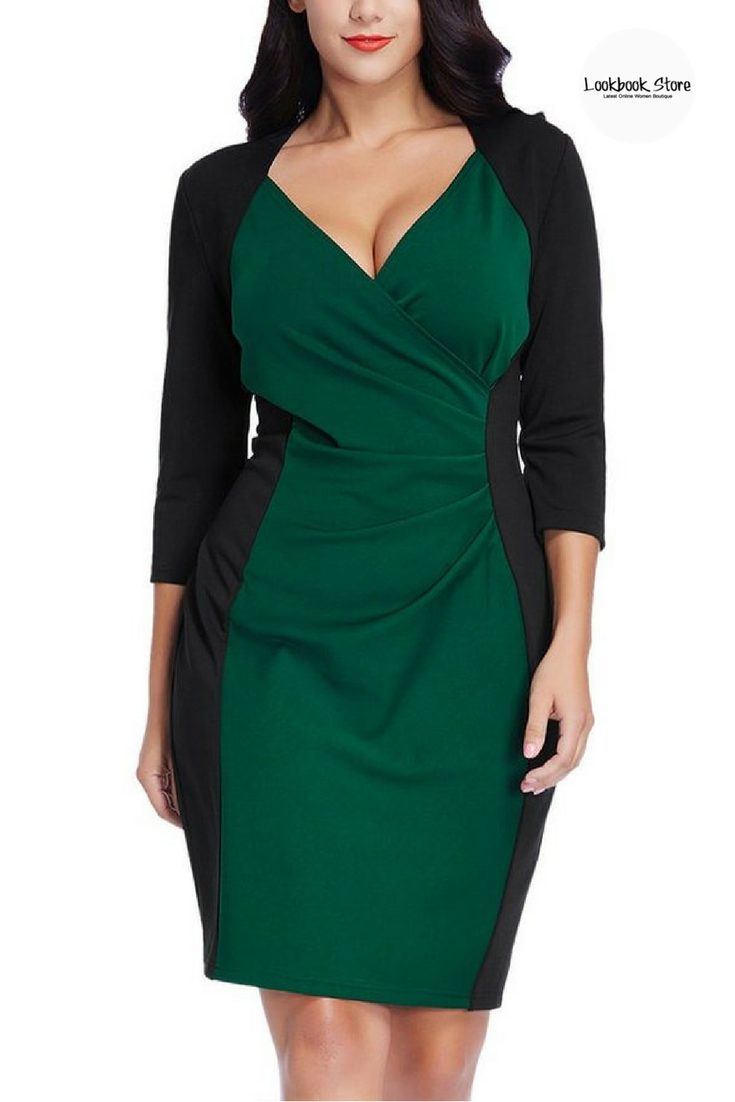 Here Are The Decorating Secrets Top Designers Swear By с изображениями: Plus Style // Match This Gorgeous Plus Size Green Raglan Sleeves Dress With Your Heels And