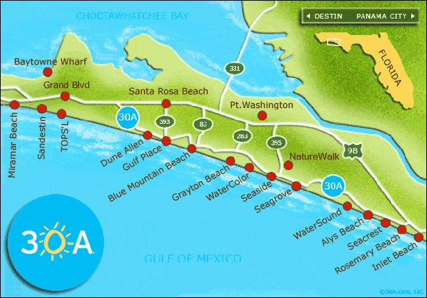Panama City Beach Florida Map.Scenic 30a The Perfect Florida Gulf Coast Vacation Rv Travel