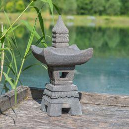 Lanterne Japonaise En Pierre De Lave 55cm Lanterne Japonaise Jardin Japonais Lanterne