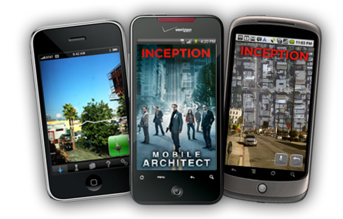 Trio of Apps for INCEPTION aimed to induce the surreal dream-like quality of the movie over your real life. Read more here.