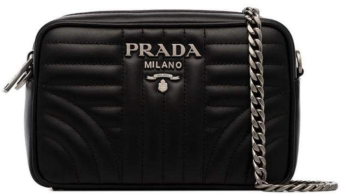 a5475d339 Prada black Diagram small quilted leather cross body bag Quilted Leather,  Small Quilts, Leather