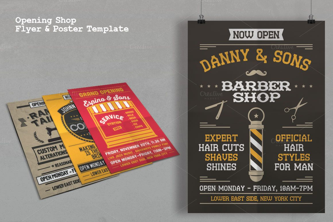 Image of Opening Shop Flyer & Poster Template   Poster & Flyer ...