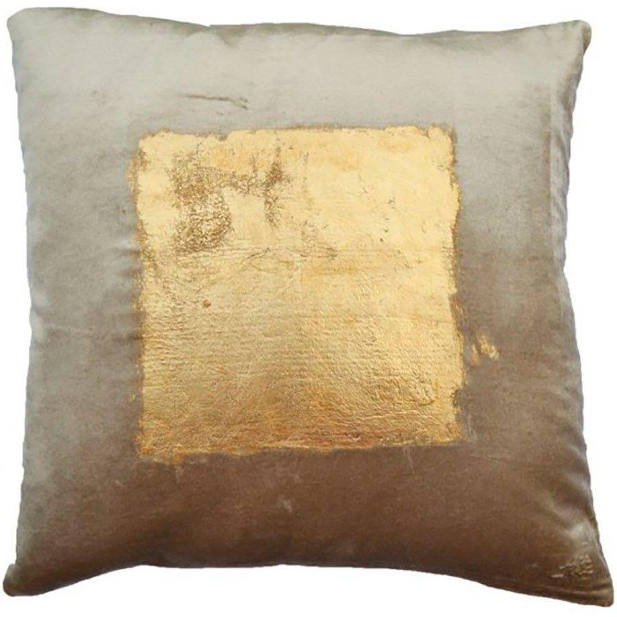 Cloud 9 Velvet Pillow with Center Square Gold Foil Print | Squares ... - $96, Velvet Pillow with Center Square Gold Foil Print