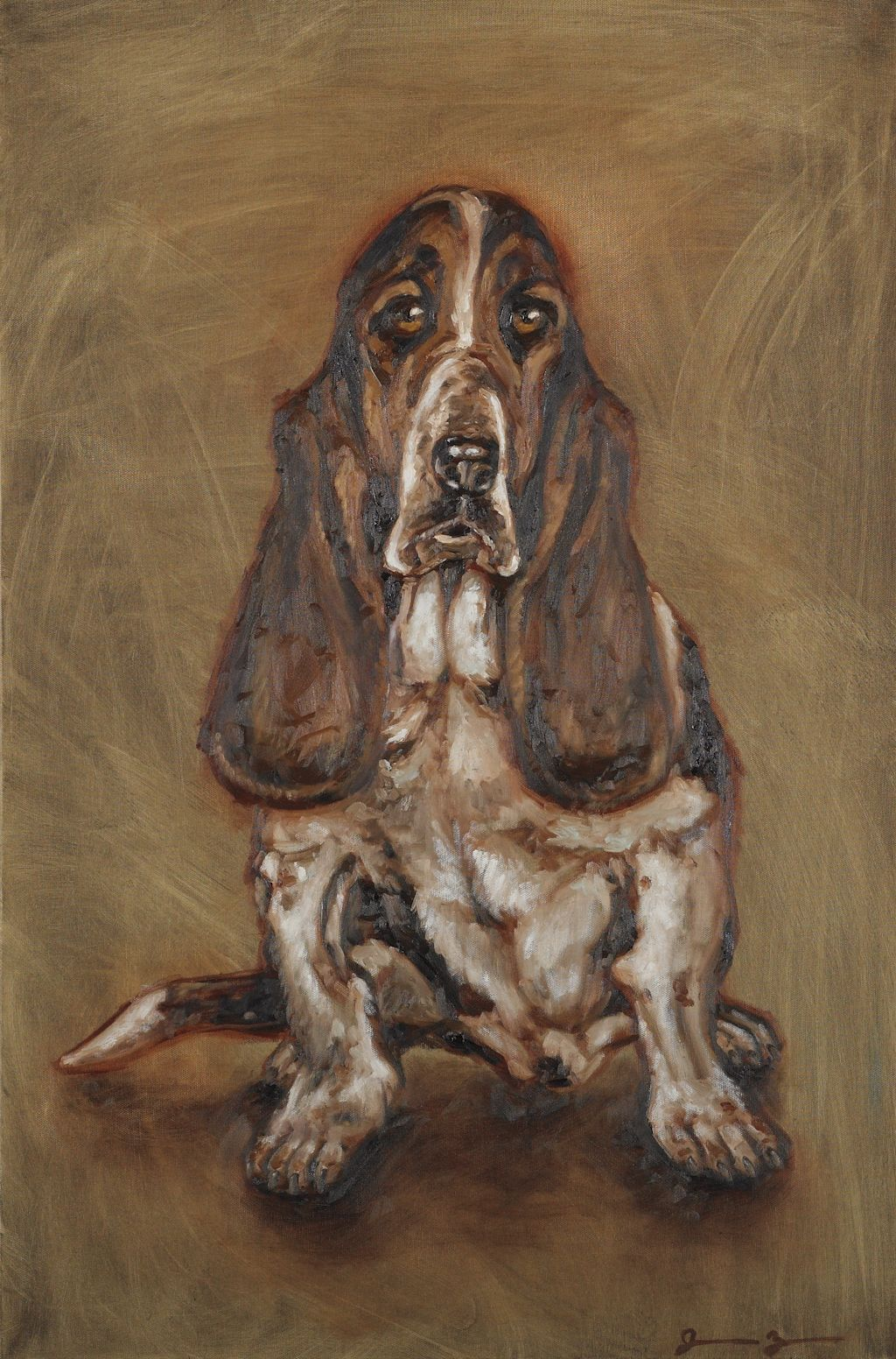 Old Dog New Tricks By Jacob Zars Grand Rapids Michigan Usa Painting My Painting Reflects My Idea Of What An Basset Hound Art Bassett Hound Old Dogs