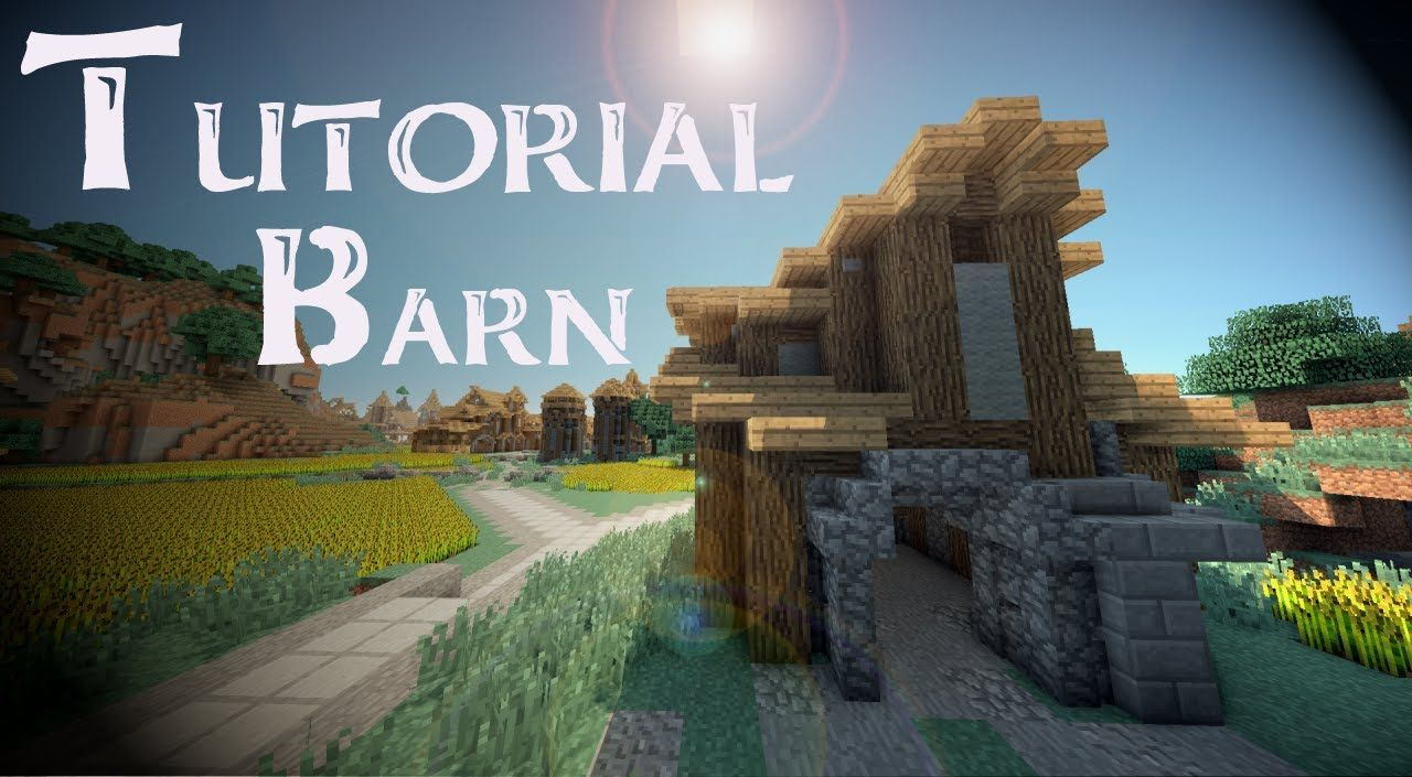 Minecraft Tutorial: Medieval HORSE STABLES | The crafting of my mind ... for Medieval Barn Minecraft  111ane