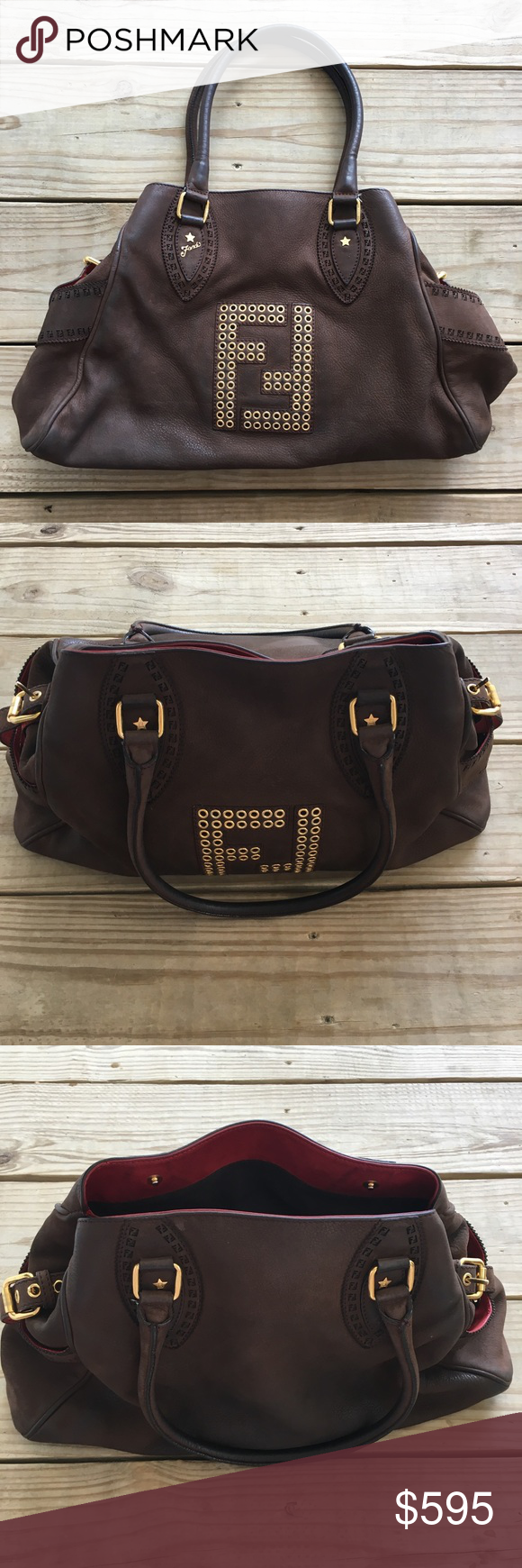 Fendi Bag Fendi Bag de jour Brown Nubuck Size - large Leather Condition -  excellent Fendi Bags Satchels 2cfb9885a1