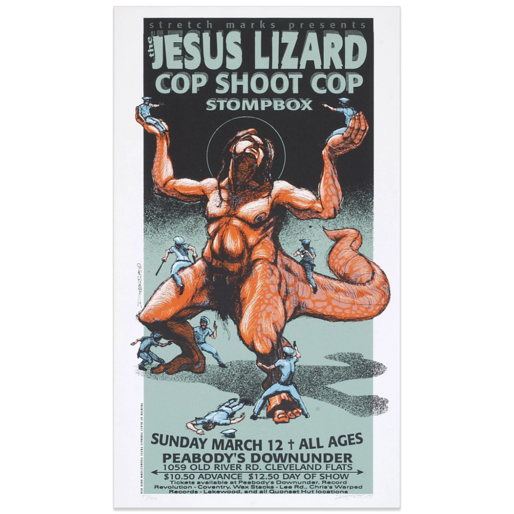 The Jesus Lizard W Cop Shoot Cop In 2020 Derek Hess Cop