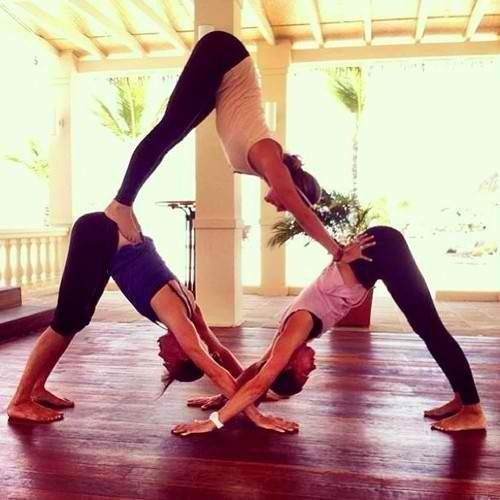 Lol Yoga Triangle Three People Needed Is Good To Do With Your Friends