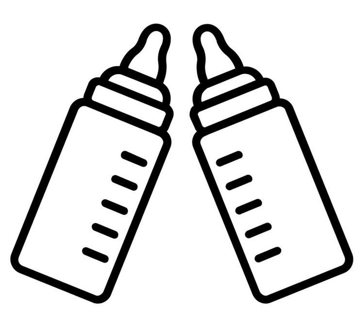 Milk Baby Bottles Coloring Page Milk Bottle Baby Baby Bottles