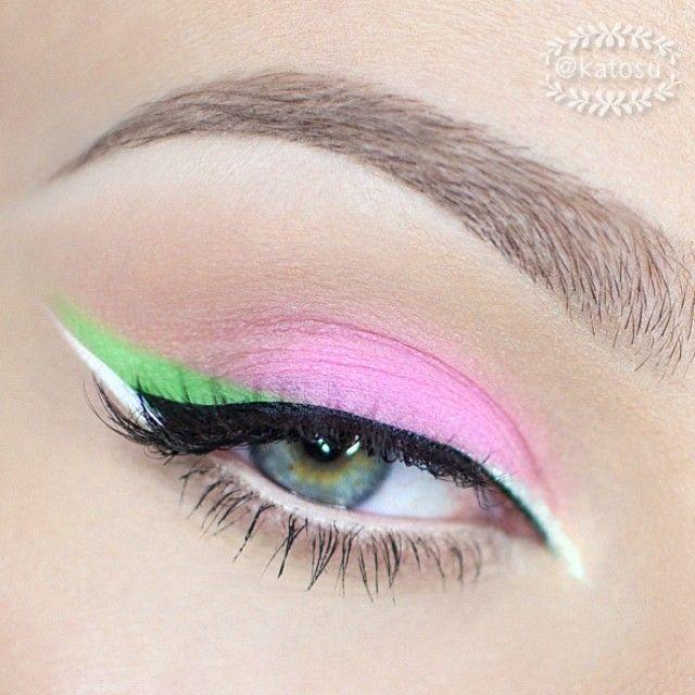 Soft pastel eye look