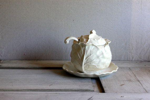 Vintage Metlox Poppytrail Cabbage Soup Tureen White California Vintage Etsy Tureen