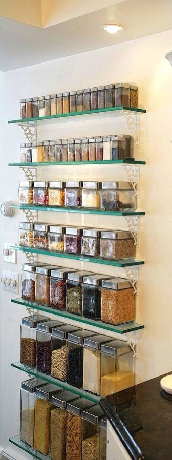 Beautiful open pantry (Heaven on Earth-Home: mTip: The Open Pantry)