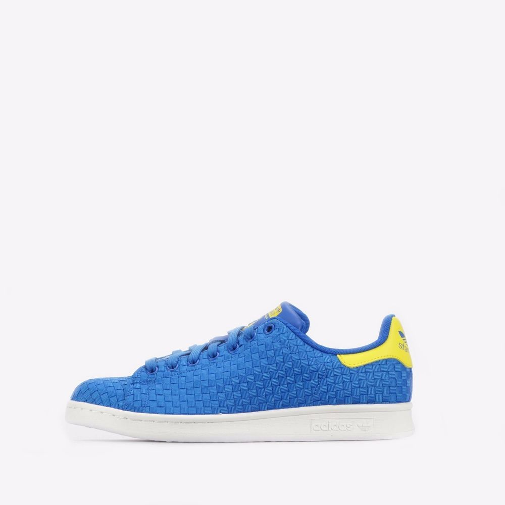 best website 82215 ef4f0 adidas Originals Stan Smith Woven Men s Shoes Blue Yellow  adidasOriginals   CasualTrainersShoes  Casual