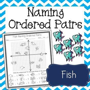Fish Naming Ordered Pairs Worksheet Coordinate Graphing Graphing Worksheets Fishing Theme Ordered pairs picture worksheets