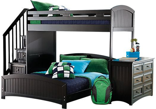 Best Shop For A Cottage Colors Black Twin Full Step Loft W 640 x 480