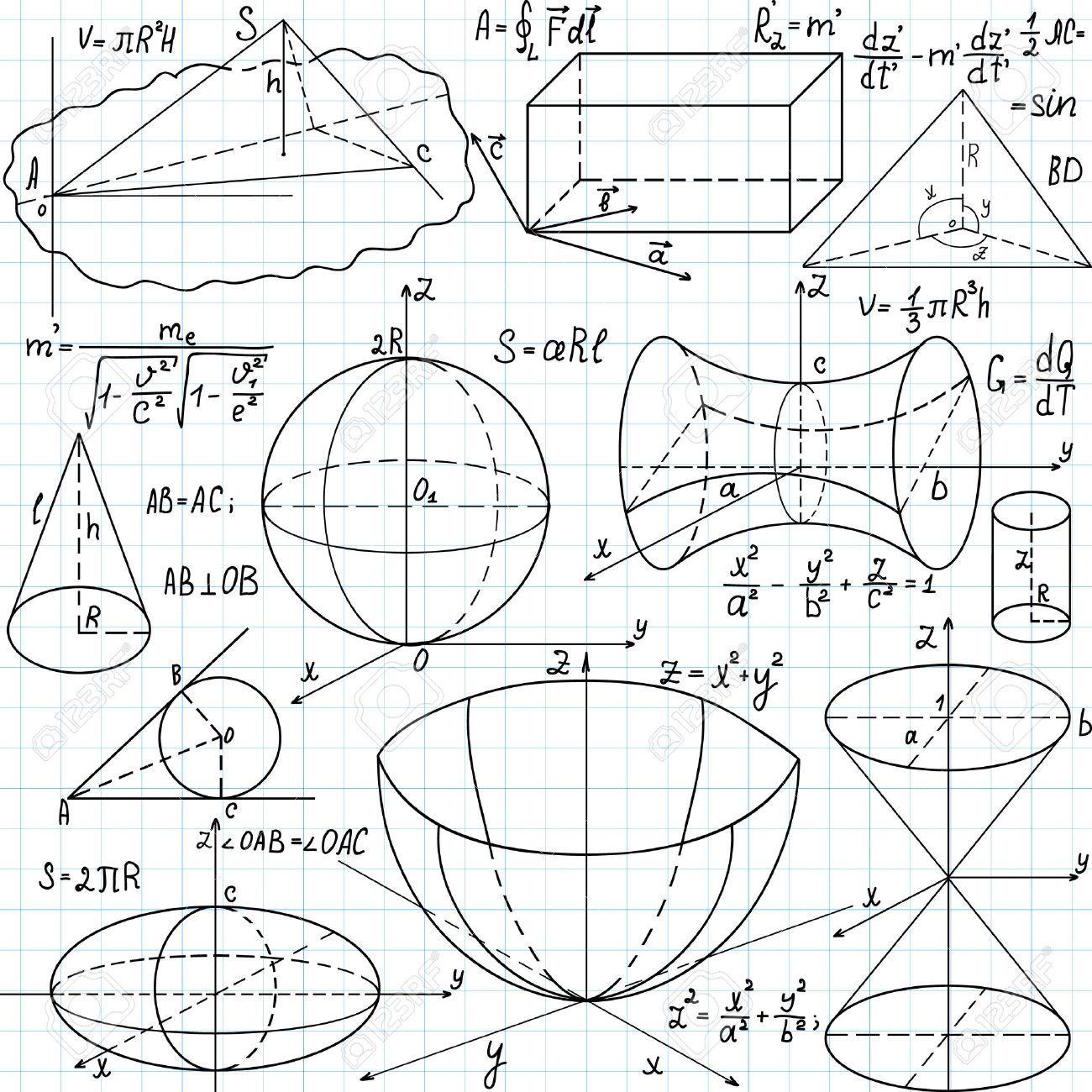 Beautiful Seamless Pattern With Mathematical