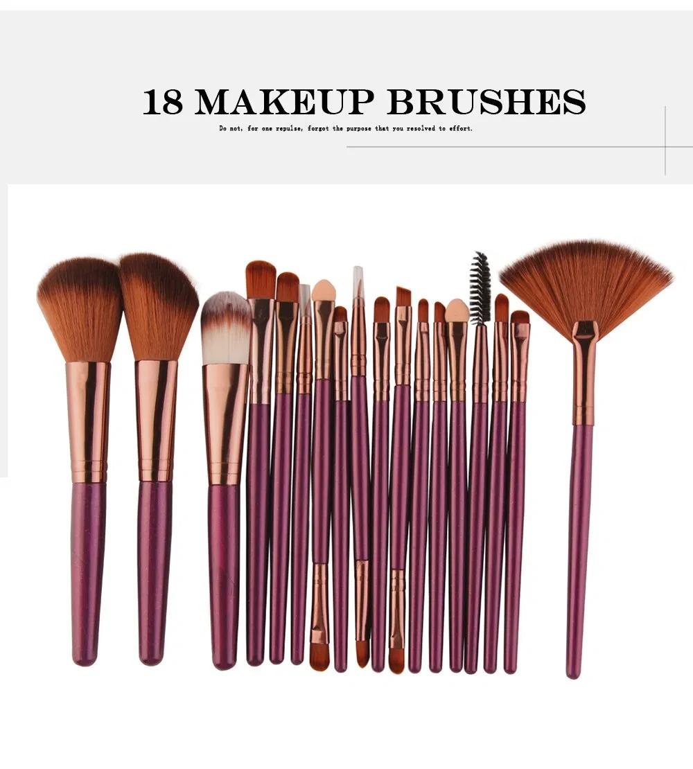 6/15/18Pcs Makeup Brushes Tool Set Cosmetic Powder Eye