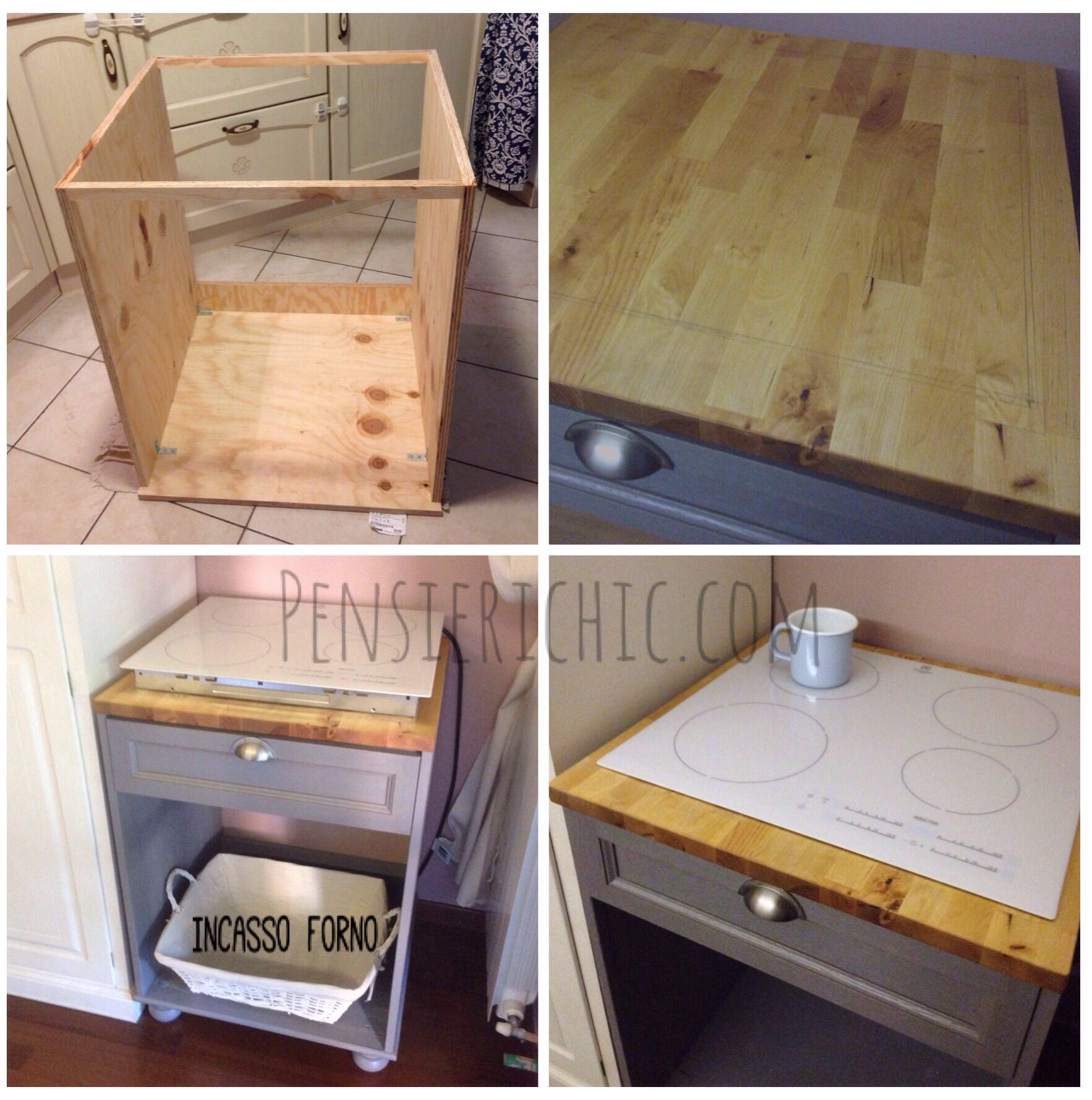 Cucina a libera installazione handmade kitchen diy for Cucina libera installazione
