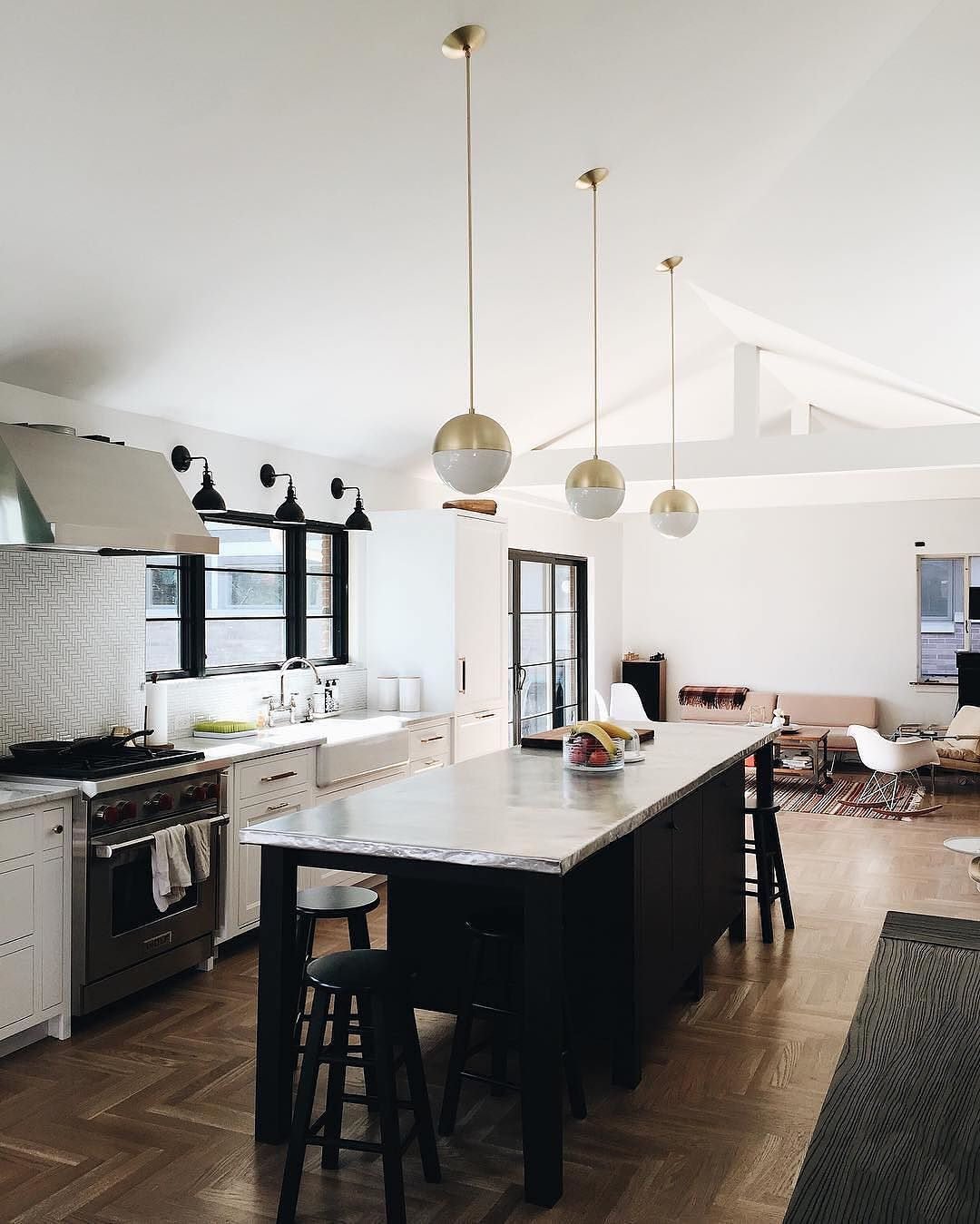 Cool Calm And Functional Kitchen: This Bright View Of @maurastoffer's Kitchen In Chicago Is