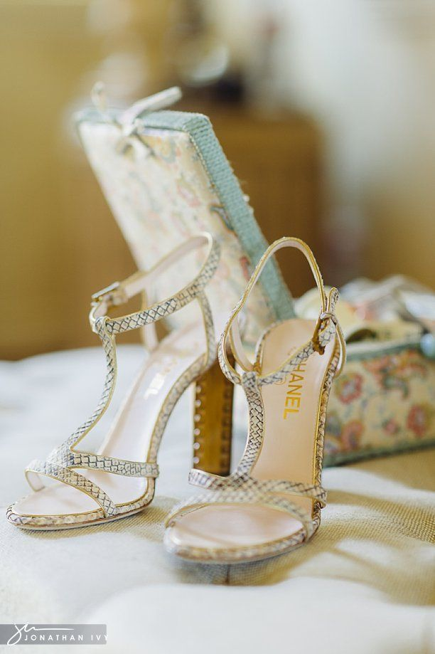 Chanel Bridal Shoes By Houston Wedding Photographer Www