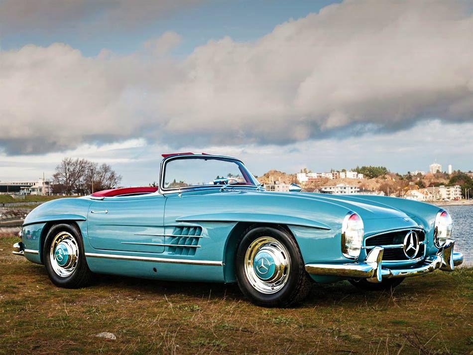 1958 mercedes benz 300sl classic car beautiful turquoise color ecoxplorer