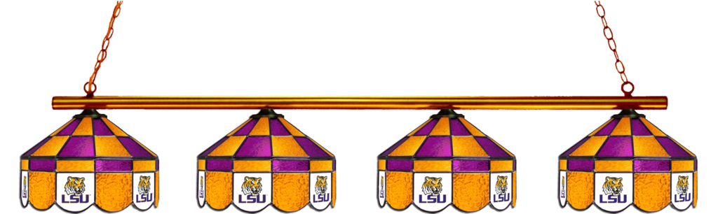 Lsu Tigers Stained Glass 4 Light Executive Pool Table Light Light Table Pool Table Lighting Stained Glass Light