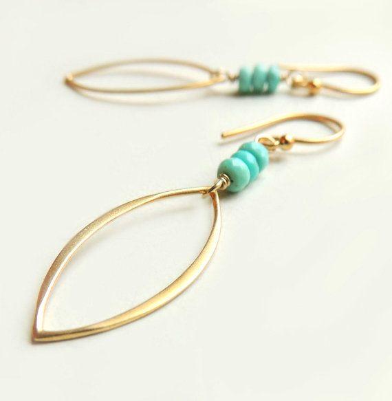 Devon Earrings with Sleeping Beauty Turquoise by Flow Designs