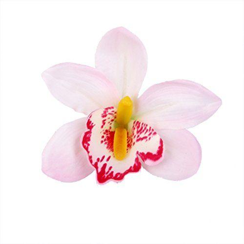 20pcs Artificial Silk Orchid Dendrobium Flower Heads Wedding Decor Colorful
