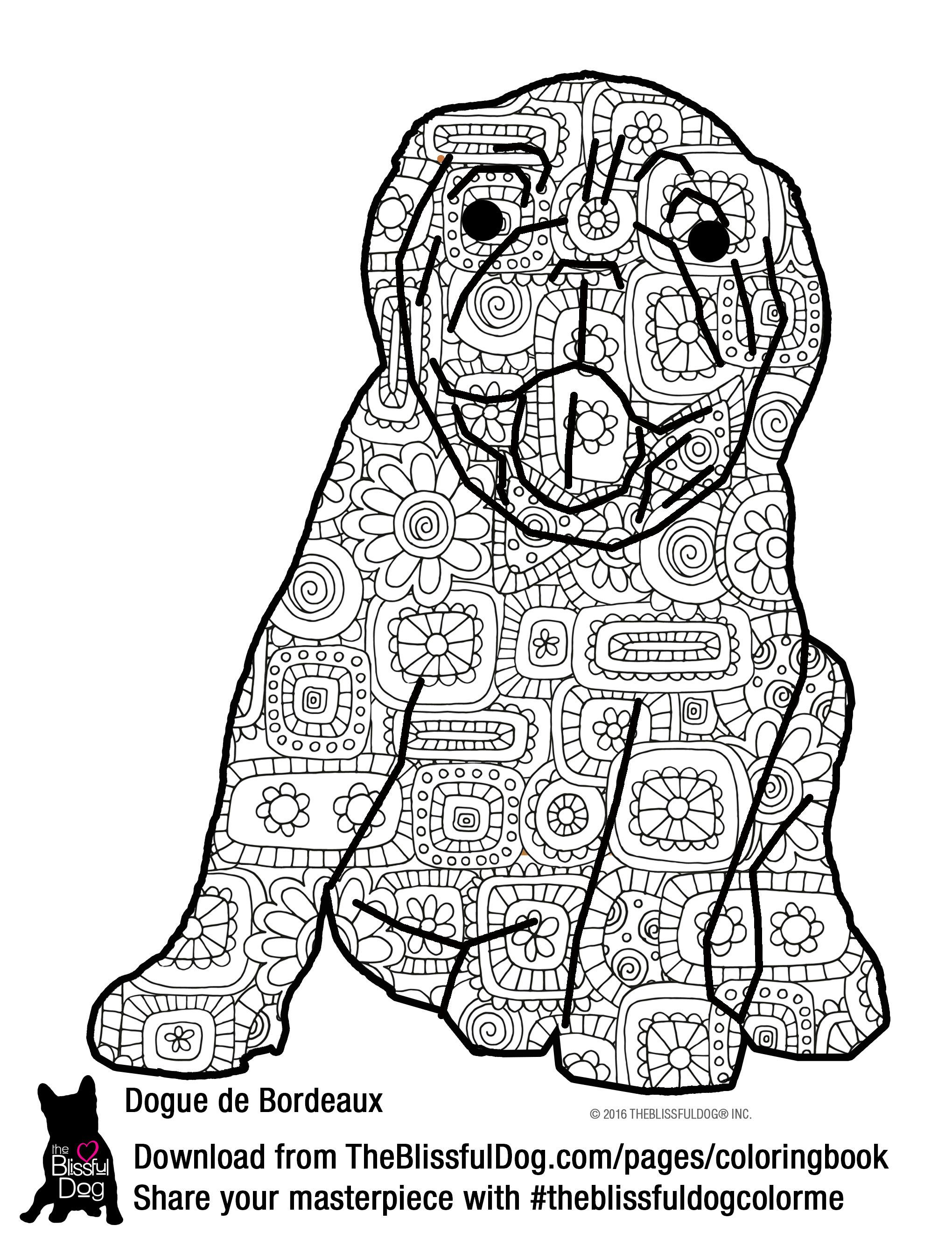 This happy Dogue de Bordeaux puppy is ready for you to color him ...