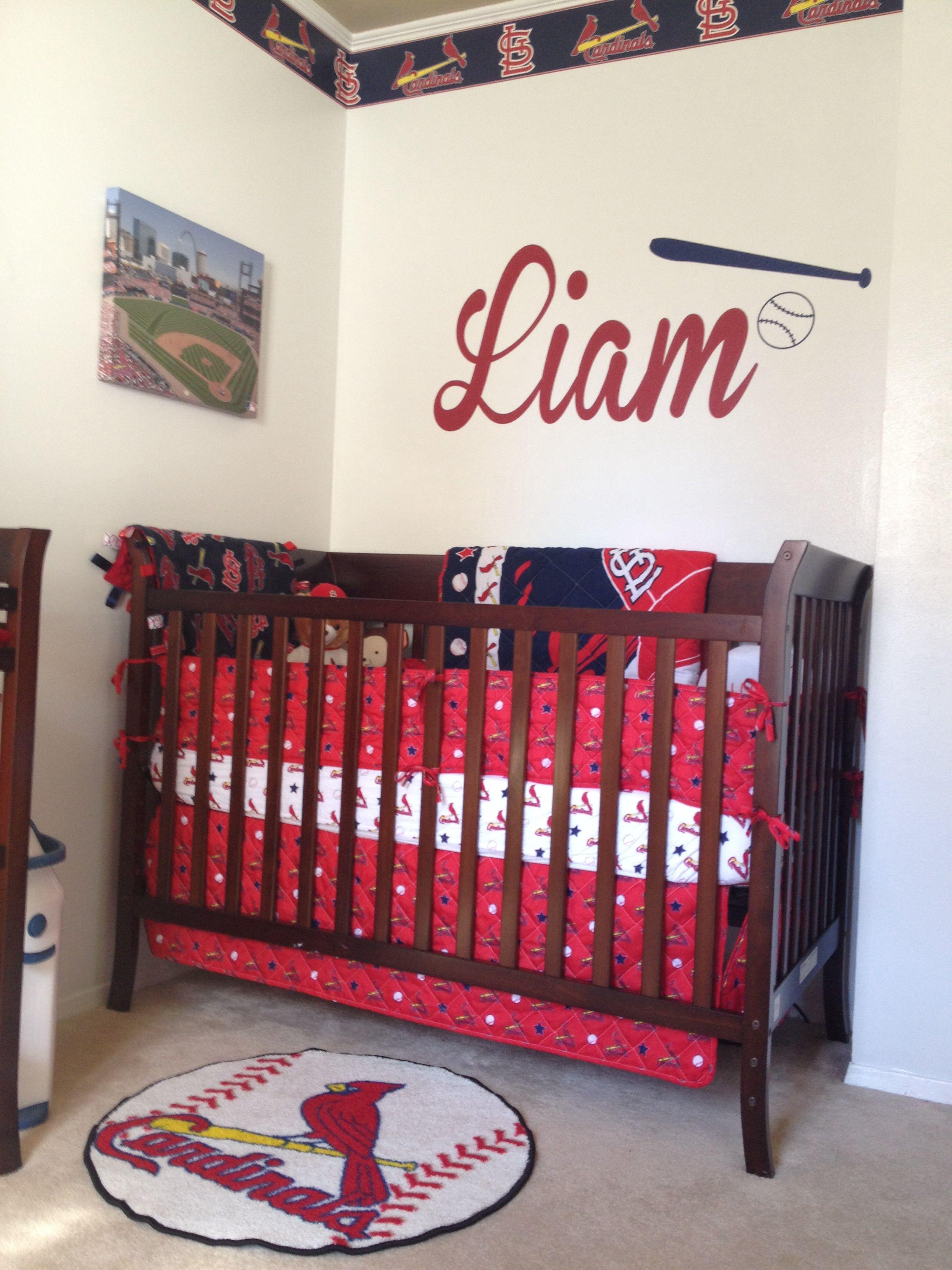 St Louis Cardinals Nursery Baby Boy Rooms Baseball Nursery