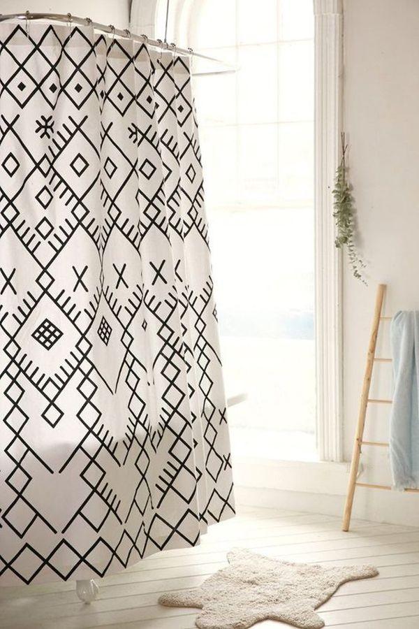 51 Ideen für coole Duschvorhänge, die Ihr Badezimmer ...