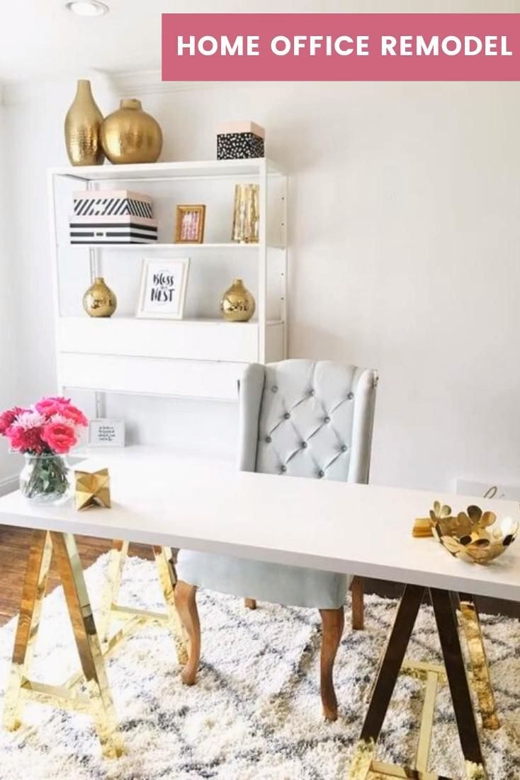 Creating A New Office Space Removed My Formal Living Room From The House In 2020 Home Office Decor Feminine Home Offices Home Office Design #small #living #room #office #layout