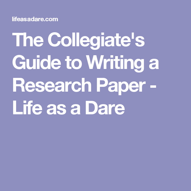 How To Write A Research Paper A Complete Guide  College And