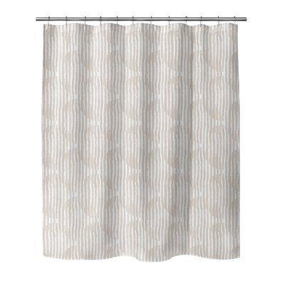 Ivy Bronx Joliet Circles Block Print Single Shower Curtain Size
