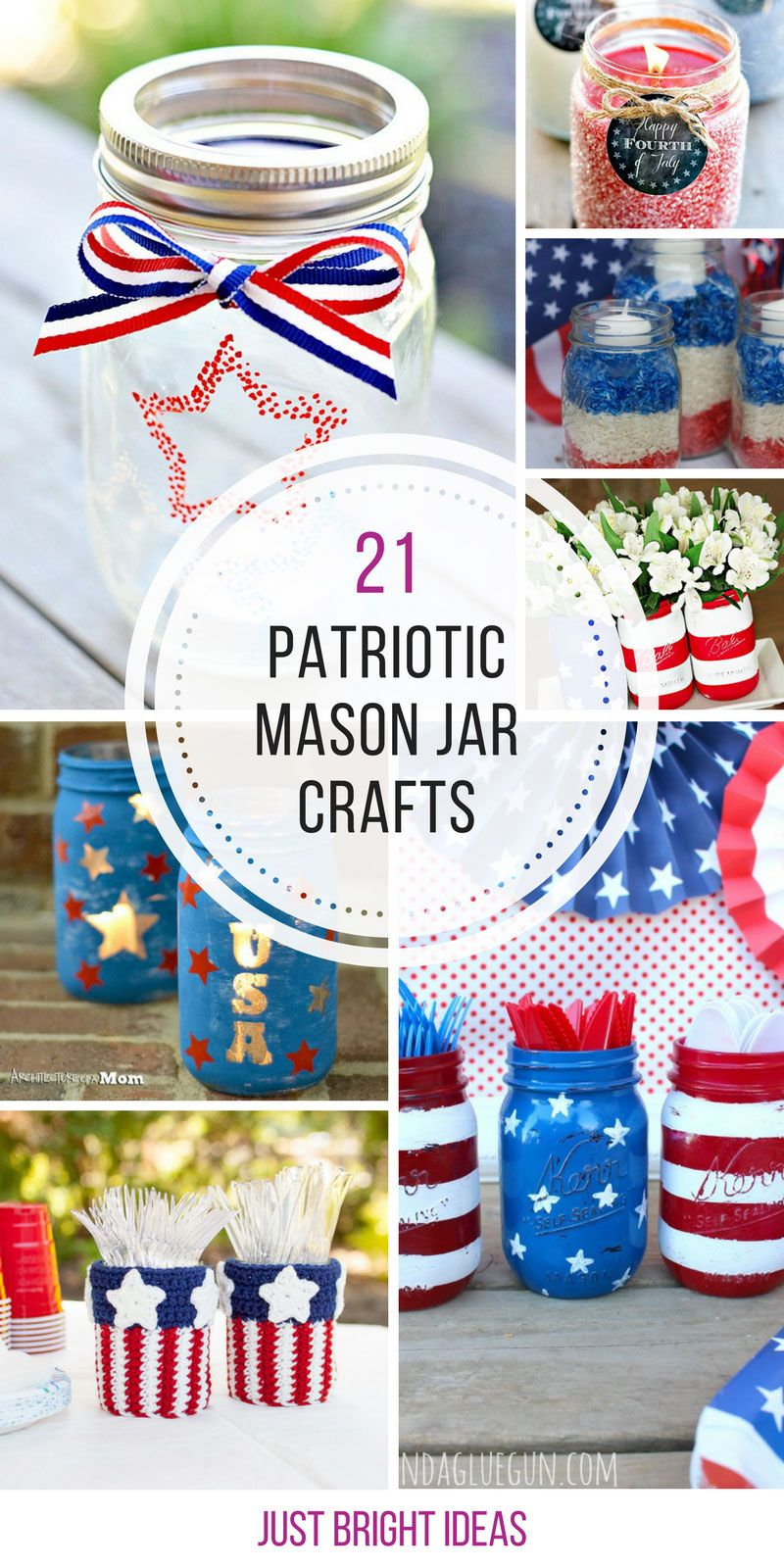 patriotic mason jar crafts you need to try july th pinterest