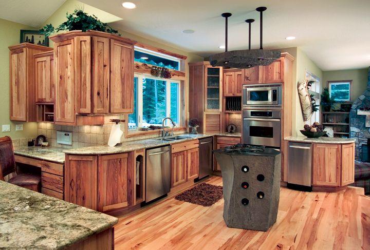Shaker Style Kitchen Cabinets Cornerstone Kitchens In Hickory - Hickory shaker style kitchen cabinets