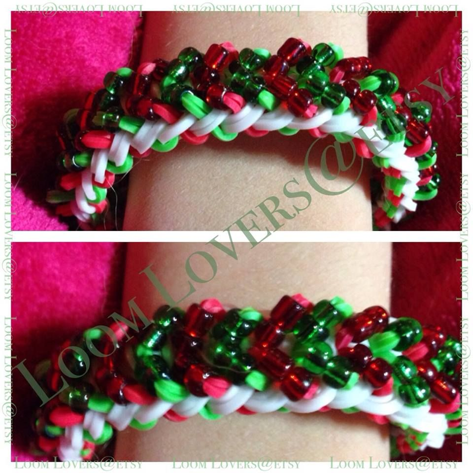 Tina ripolone parker rainbow loom small basket weave with seed
