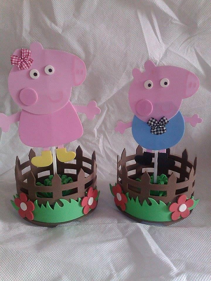 91bff4db1 Souvenirs reciclados para cumpleaños infantiles | Ecología Hoy |  manualidades | George pig party, Pig birthday y Pig party
