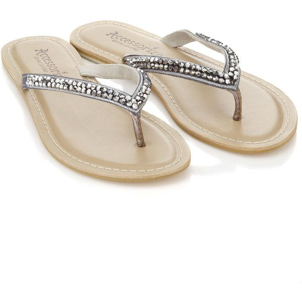 174a1f7650c0ca Accessorize Scattered Stone Sparkle Flip Flop ( 12) found on Polyvore