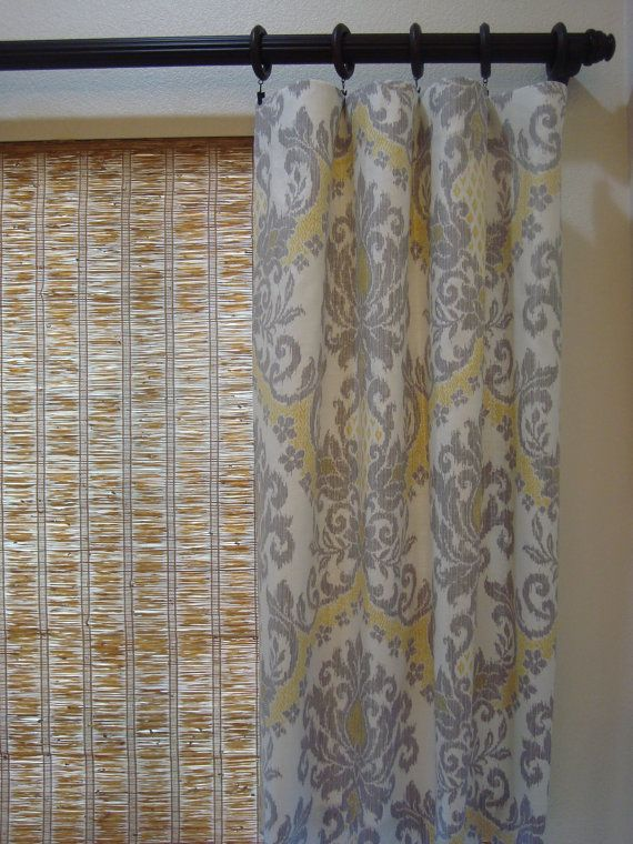 50x84 Damask Custom Designer Curtain Panels By Creativetouchdecor