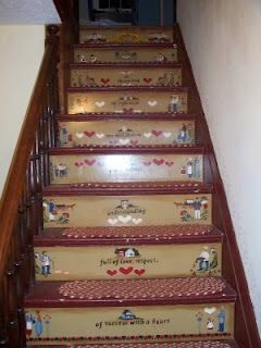 Beau Folk Art Painted Stair Risers