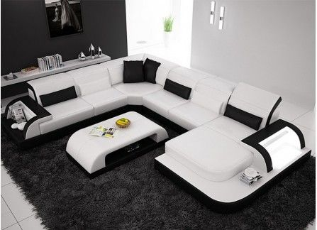 Modern outdoor lounge set with coffee table white aluminum vinci